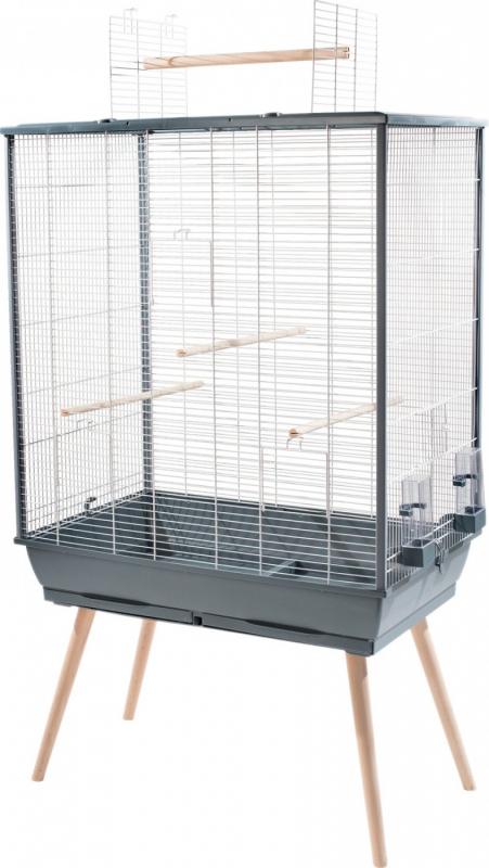 Cage NEO Jili XL pour oiseau, Gris - H132cm