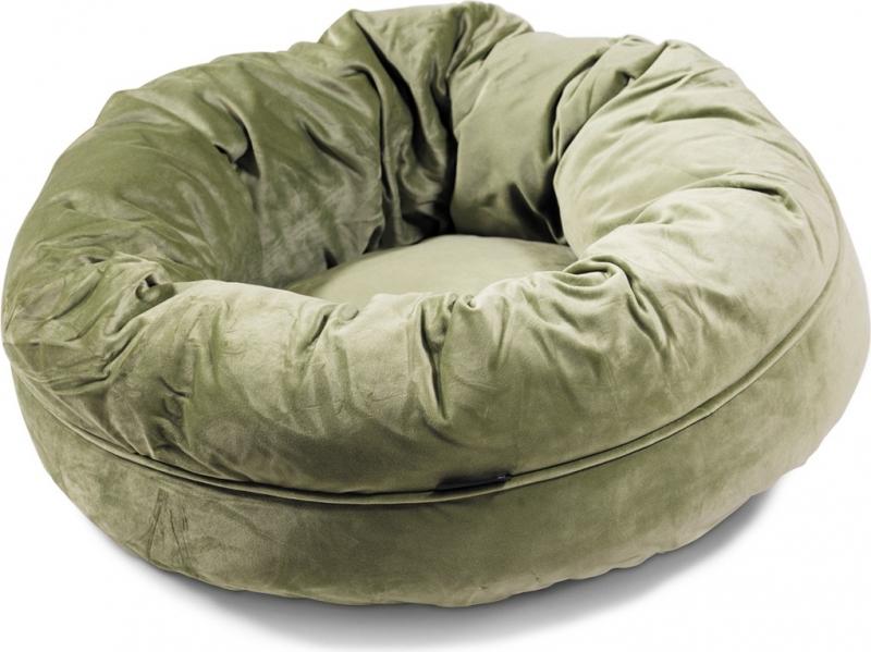 Hundekorb Donut Velvetti 60 et 110cm in grün