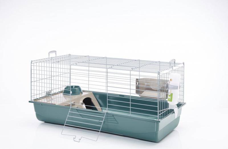 Kooi NERO 3 moderne en luxueuze grijze kooi voor konijnen en cavia's - 100 cm
