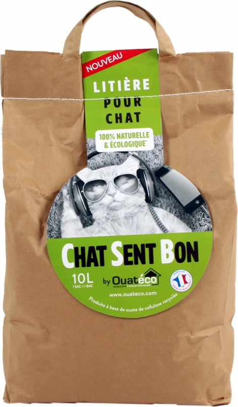 Areia para gato 100% natural e ecológica Chat sent bon