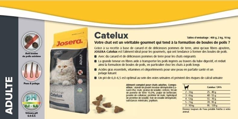 JOSERA Catelux Anti Boules de Poils pour chat Adulte