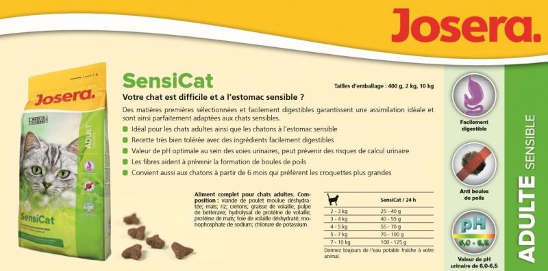 JOSERA SensiCat pour Chat Adulte & Chaton Sensibles
