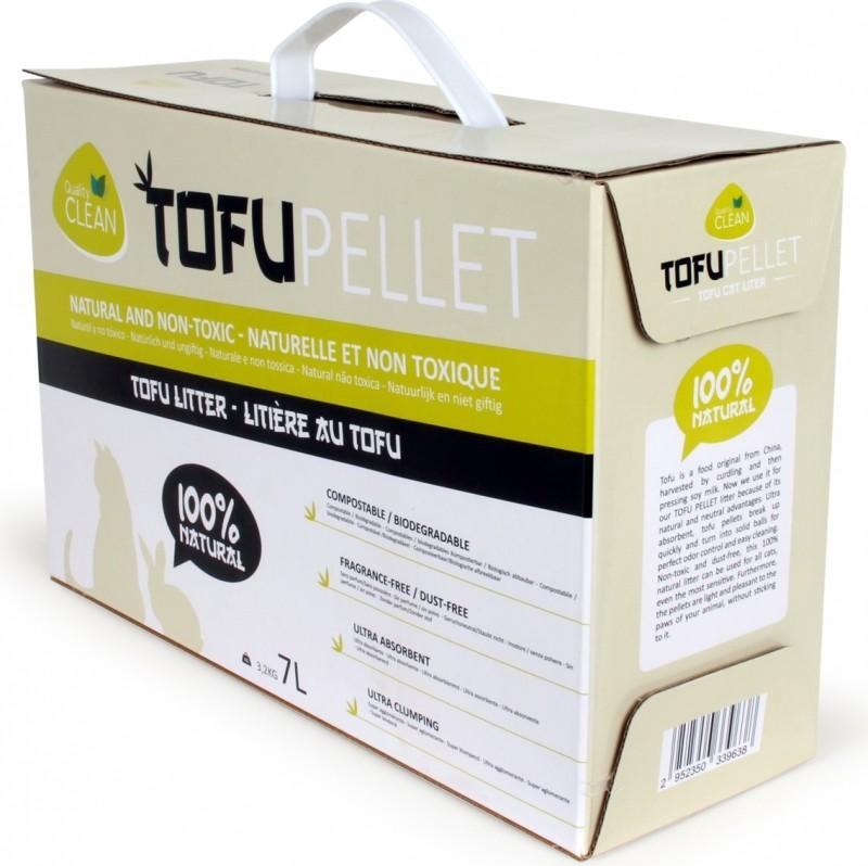 Arena vegetal aglomerante TofuPellets Quality Clean - 7 L