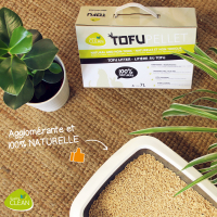 Arena vegetal aglomerante TofuPellets Quality Clean - 7 L