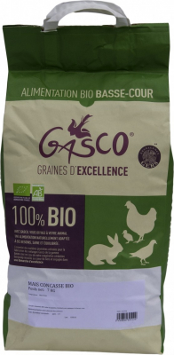 Maïs concassé 100% BIO pour basse-cour