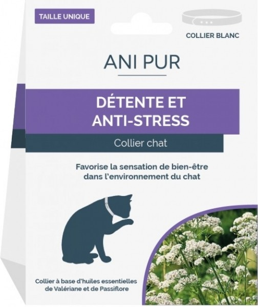 Collier Anti-stress chat ANI PUR 42cm