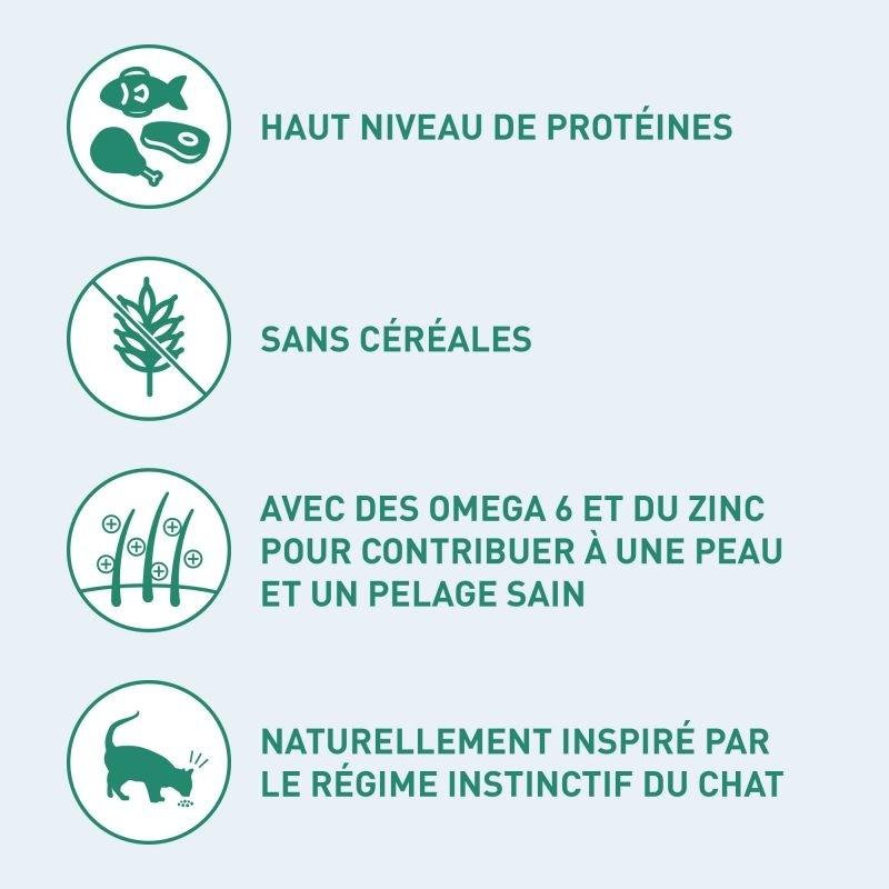 NUTRO Wild Frontier Adult Saumon & Poisson Blanc Sans Céréales pour Chat Adulte