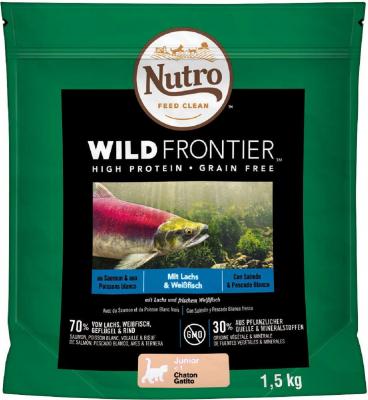 NUTRO Wild Frontier Saumon & Poisson Blanc Sans Céréales pour Chaton