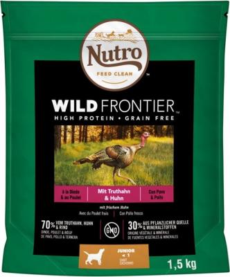 NUTRO Wild Frontier Junior Dinde & Poulet Sans Céréales pour Chiot