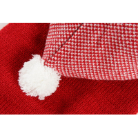 Pull à capuche pour chien rouge chiné