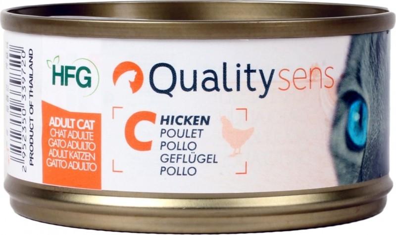 QUALITY SENS HFG - Pâtées 100% Naturelles 70g pour Chat & Chaton - 4 saveurs au choix