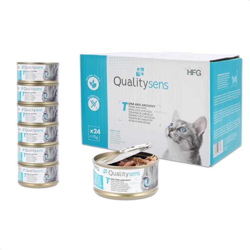 QUALITY SENS HFG - Pâtées en bouillon 100% Naturelles 70g pour Chat & Chaton - 6 recettes au choix