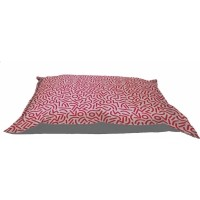 Be One Breed Memory Foam Kissen für Hunde Motif rotes Konfetti
