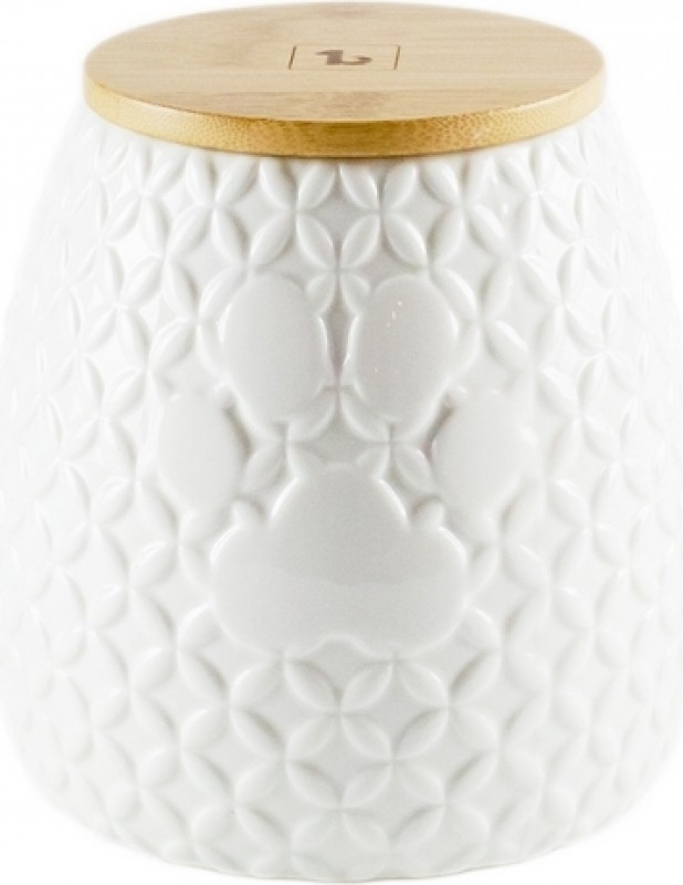 BE ONE BREED - Pot à biscuits en porcelaine blanche / Oval / 1800ml