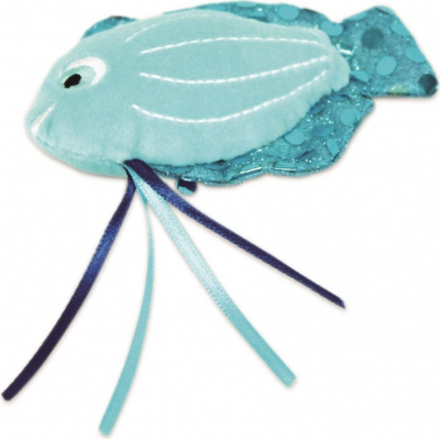 BE ONE BREED - Jouet pour chat sonore Poisson Bleu