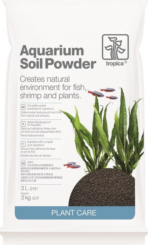Tropica Aquarium Soil Powder Substrat complet et fin