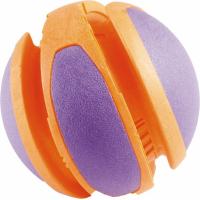 Bal TPR oranje en paars 14cm