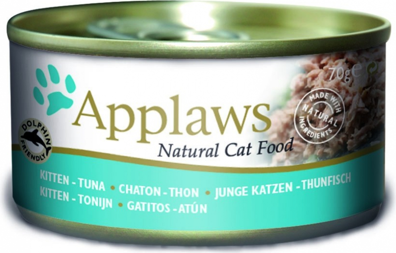 APPLAWS Boîtes en bouillon 70g pour chaton - 3 saveurs