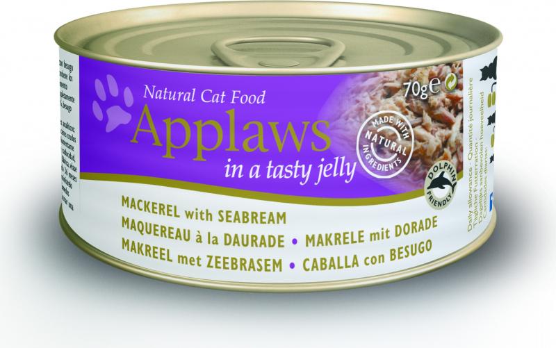 APPLAWS Boîte en Gelée 70g Sans Céréales pour Chat Adulte - 4 saveurs