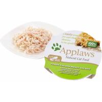 APPLAWS Klein potje in bouillon, 60g voor volwassen katten - 4 smaken