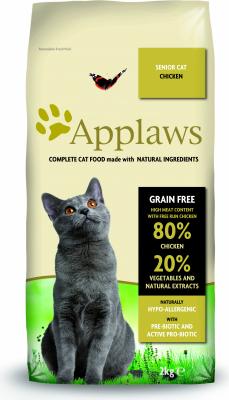 APPLAWS Croquettes Sans Céréales au Poulet pour chat Senior