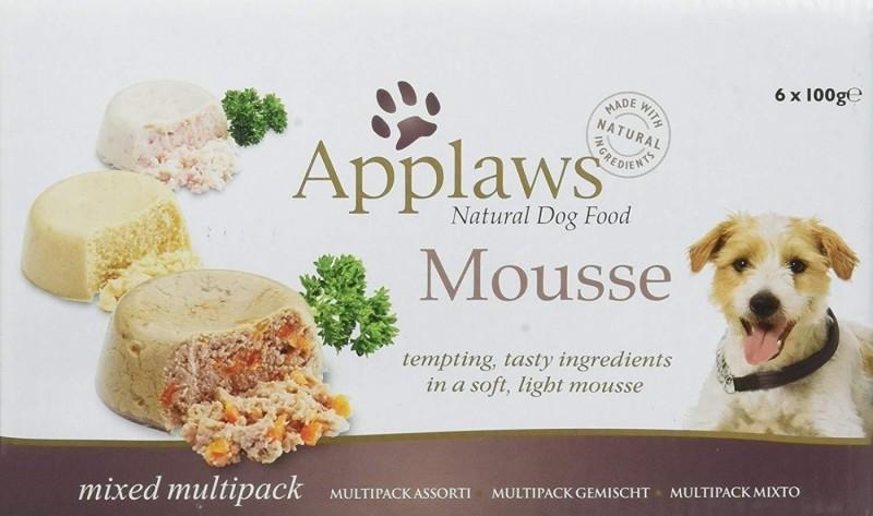 APPLAWS Pâtée 100% Naturelle en Mousse 100g pour Chien Adulte - 3 saveurs