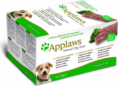 APPLAWS MULTIPACK Pâtées Fresh Country Selection pour chien Adulte - 5x100g