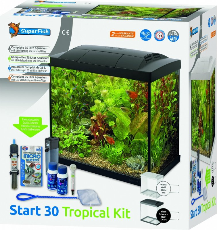 Superfish START Kit 30 Tropical Kit Noir ou Blanc