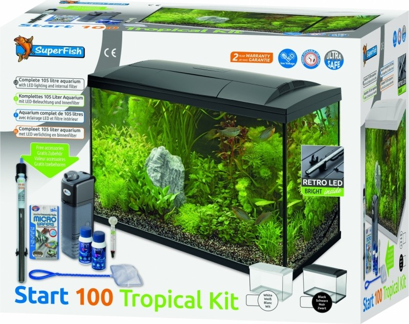 Superfish START Kit 100 Tropical Kit Noir ou Blanc