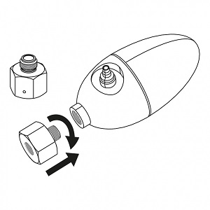 Adaptateur pour bouteille CO2 Dennerle