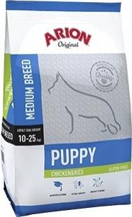 ARION ORIGINAL Puppy Medium 28/18 Poulet & Riz pour Chiot de Taille Moyenne