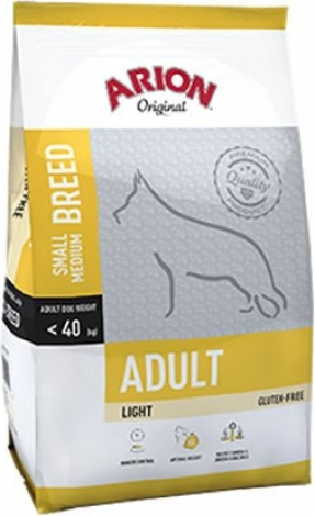 ARION ORIGINAL Adult Small & Medium 25/10 Light pour Chien en Surpoids ou Stérilisé