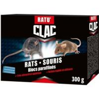 Ratu'Clac Raticide et Souricide Polyvalent en Blocs pour Rats et Souris