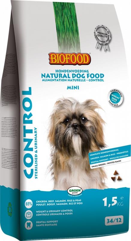 BIOFOOD Mini Control 34/12 pour Chien Adulte de Petite Taille en Surpoids ou Stérilisé