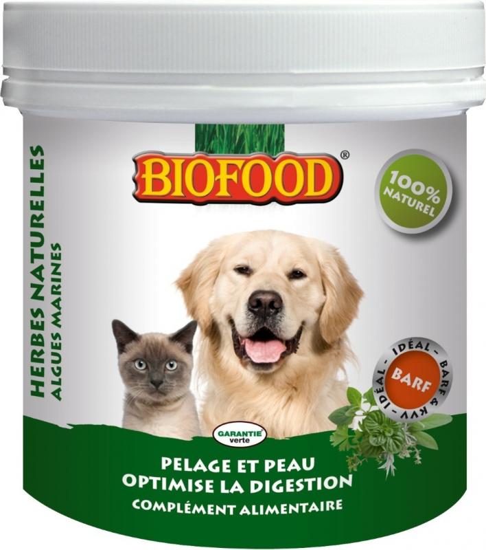 BIOFOOD Complément Alimentaire Santé Générale aux Plantes pour Chien & Chat