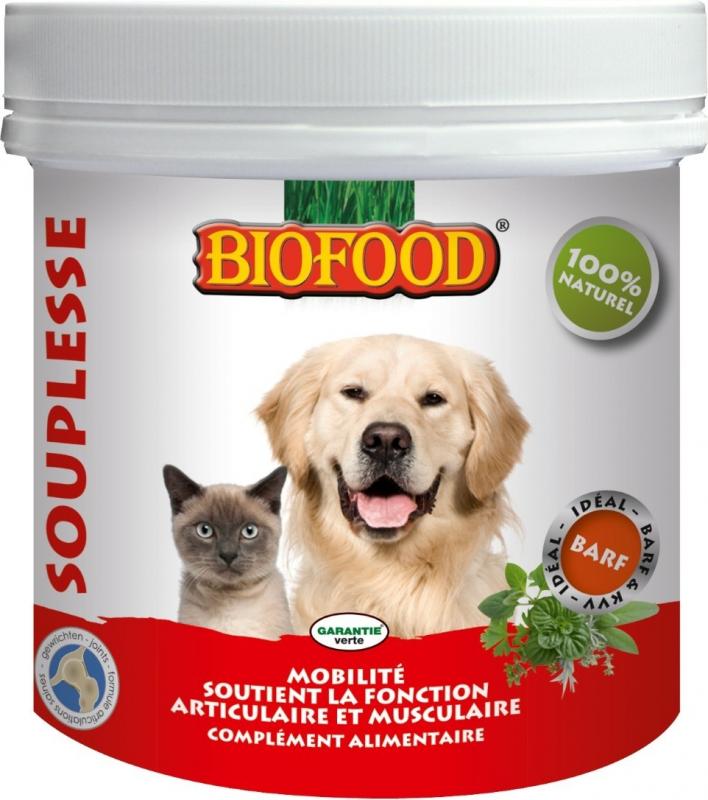 BIOFOOD Complemento Alimentario FLEXIBILIDAD para Perro y Gato