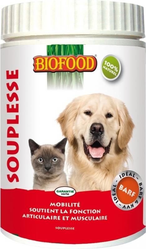 BIOFOOD Complément Alimentaire SOUPLESSE pour Chien et Chat
