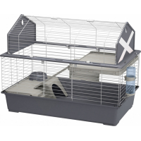 Cage BARN pour cochons d'inde ou lapins gris plusieurs tailles disponibles