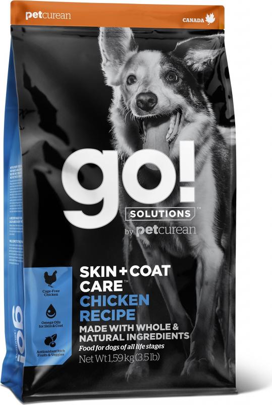 PETCUREAN GO! Skin + Coat Care au Poulet pour Chien Adulte et Chiot