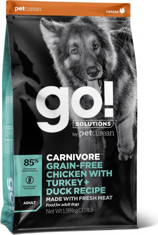 PETCUREAN GO! Dog Fit + Free Sans Céréales pour Chien Adulte et Chiot