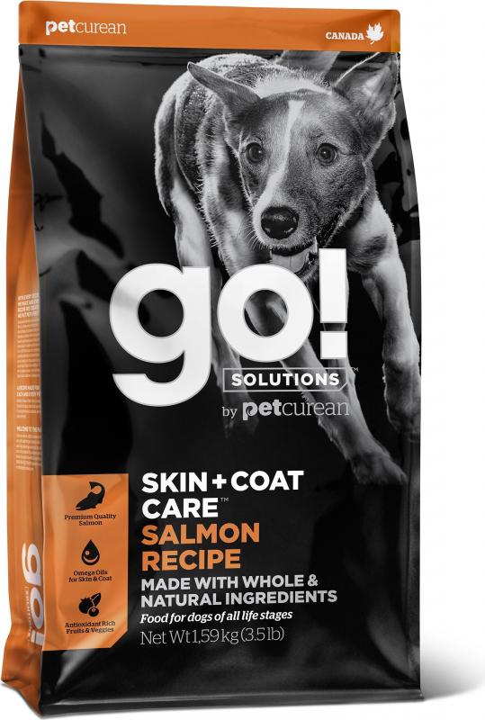 PETCUREAN GO! Skin + Coat Care au Saumon pour Chien et Chiot Sensible
