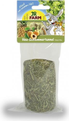 JR FARM Tunnel Gourmand Foin-Mix de fruits pour rongeurs, 125g