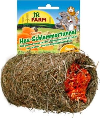 JR FARM Tunnel met hooi en wortelen voor knaagdieren