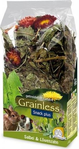 JR FARM Grainless Snack Plus Salie-paardenbloem voor knaagdieren