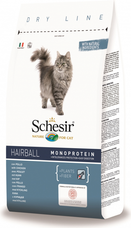 SCHESIR Hairball au Poulet pour Chat Adulte