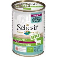 SCHESIR Pâtée BIO Sans Céréales au Poulet pour Chiot - 400g