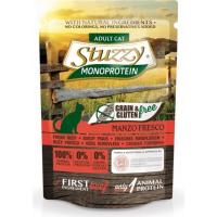 Pâtée Sans Céréales STUZZY Monoprotein 85g à la Viande Fraîche pour Chat Adulte - 3 Saveurs au Choix