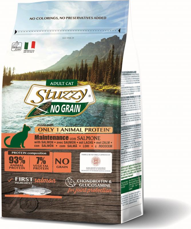 STUZZY Monoprotein Sans Céréales au Saumon pour Chat Adulte