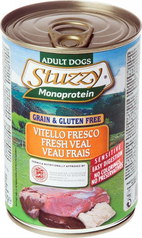 Pâtée Sans Céréales STUZZY Monoprotein 400g pour Chien Adulte