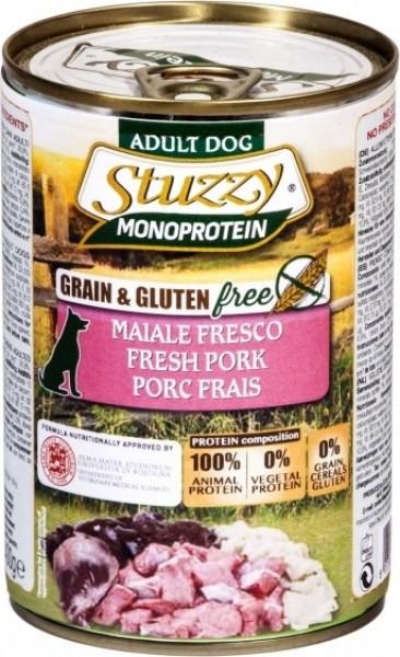 Pâtée Sans Céréales STUZZY Monoprotein 400g pour Chien Adulte - 9 Saveurs au Choix